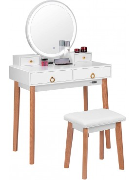 Dressing table KS175-B with LED mirror
