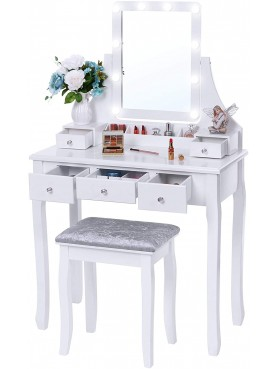 Dressing table KS165-B with LED mirror